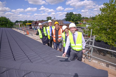 Local MP Joins Farmers Fayre For Topping Out